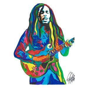 Bob Marley The Wailers Music Print Poster Wall